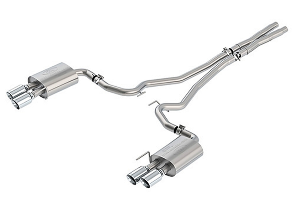 Ford Performance Mustang GT Sport Cat-Back Exhaust System - Chrome Tips (2018-2021)