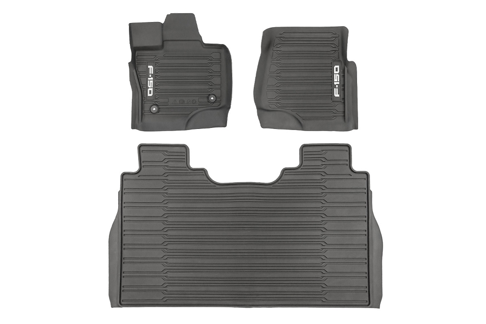 Ford F-150 SuperCrew All-Weather Floor Liners w/ Logo (2021)
