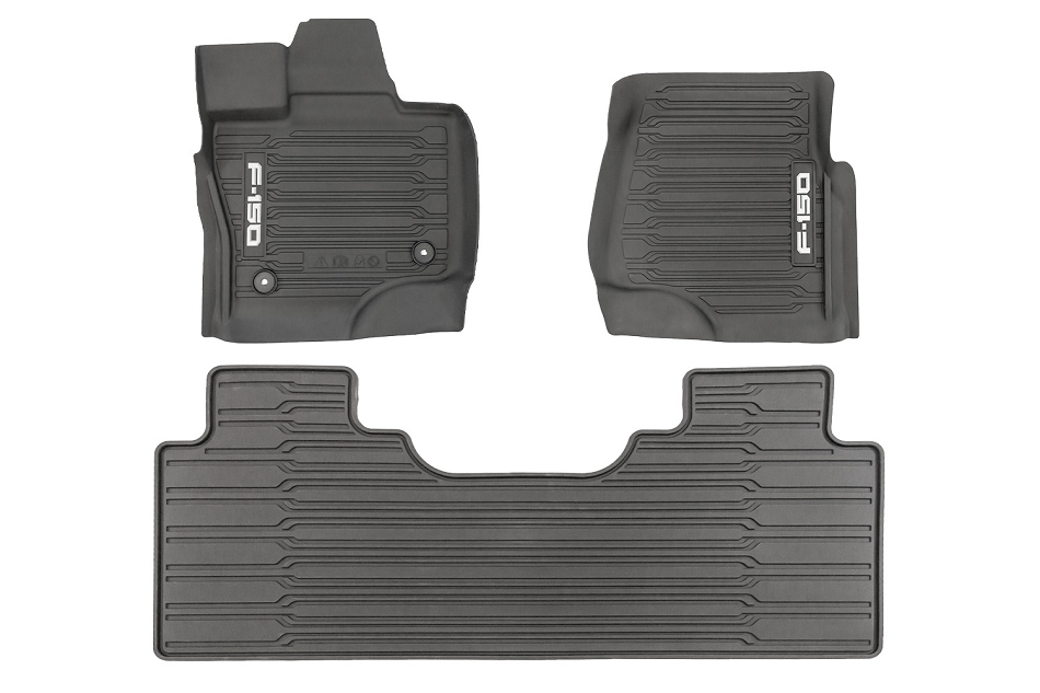 Ford F-150 SuperCab All-Weather Floor Liners w/ Logo (2021)