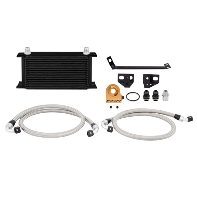 Mishimoto Mustang EcoBoost Thermostatic Oil Cooler Kit - Black (2015-2020)