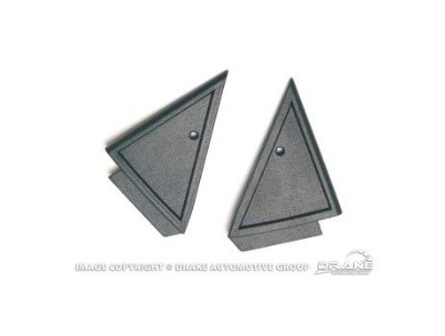 Drake Mustang Power Mirror Mount Cover Pair (1979-1986)