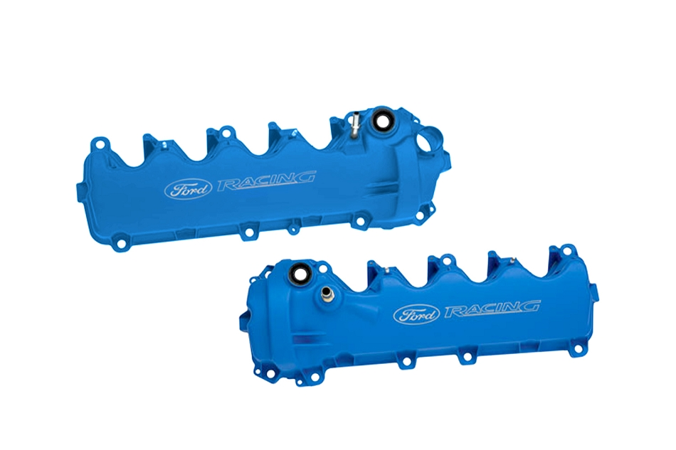 Ford Performance Mustang Pair Blue Coated 4.6L 3-Valve SOHC Cam Covers (2005-2010)