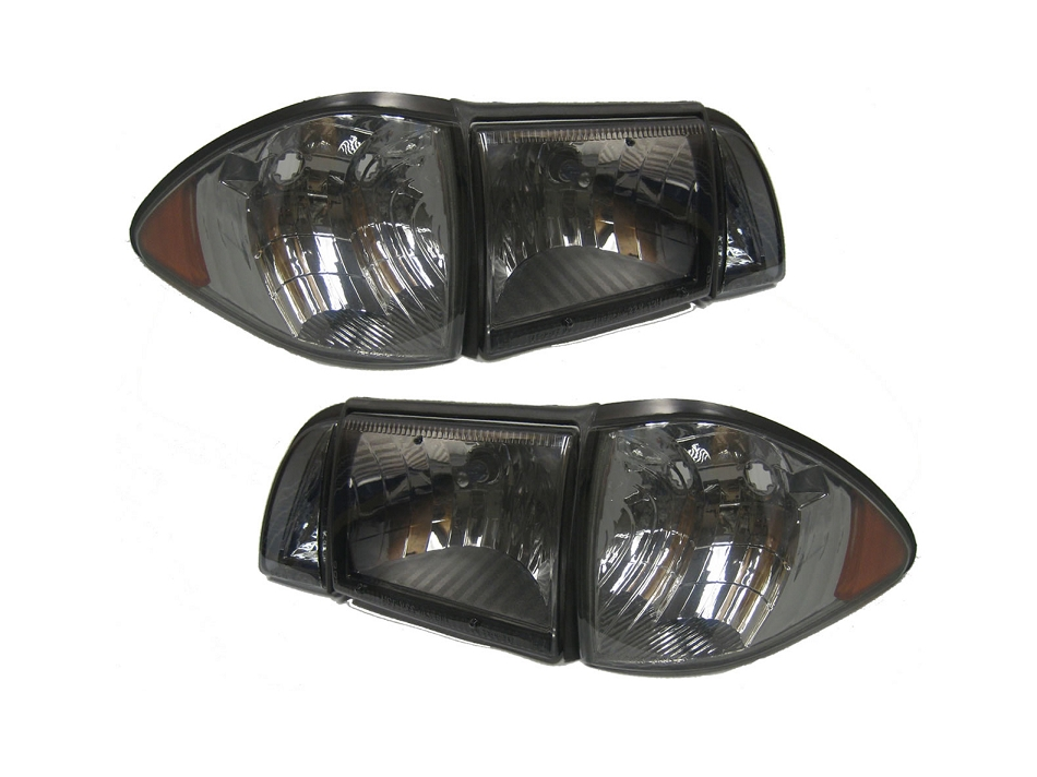 Fox Body Mustang Ultra Smoked Headlights (87-93 All)