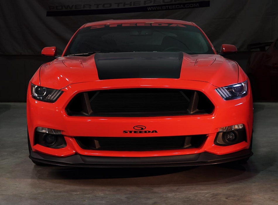 Steeda S550 Mustang Upper & Lower Grille Delete Kit (2015-2017)