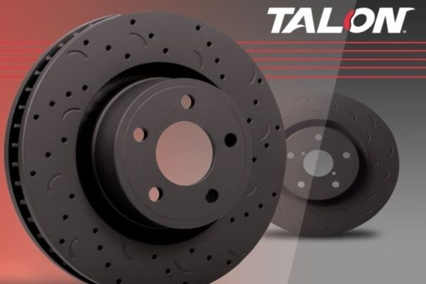 Hawk Mustang GT/LX Talon Drilled & Slotted Front Brake Rotor - Pair (1987-1993)