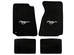 Lloyd Mats Mustang Black Floor Mats w/ Pony Logo (94-00 Coupe/99-00 Convertible)