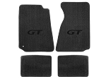 Lloyd Mats Mustang Grey Floor Mats w/ Black GT Logo (94-00 Coupe/99-00 Convertible)