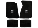 Lloyd Mats Mustang Black Floor Mats w/ 50 Years Logo (94-00 Coupe/99-00 Convertible)