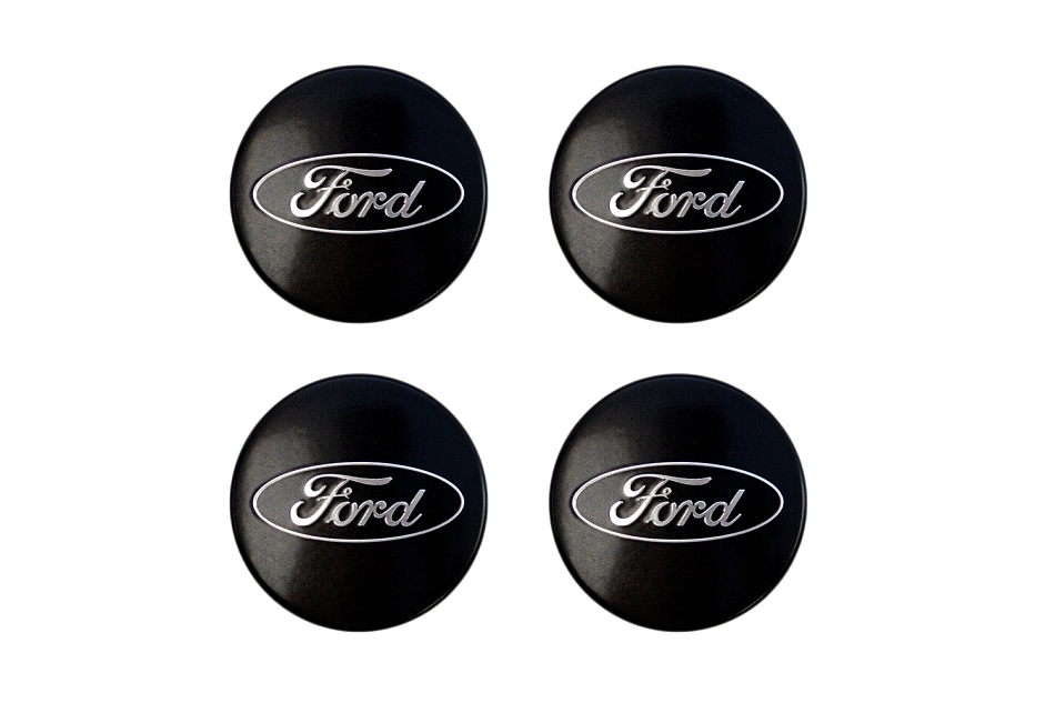 Ford Performance Mustang Black and Chrome Wheel Center Cap Set of 4