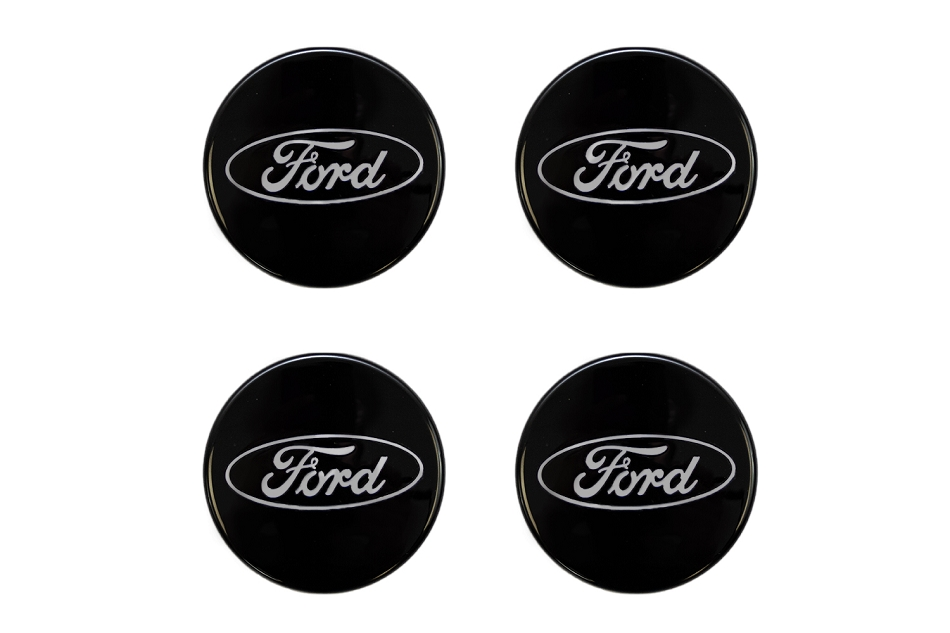 Ford Performance Truck/SUV Black and Chrome Wheel Center Cap Set of 4