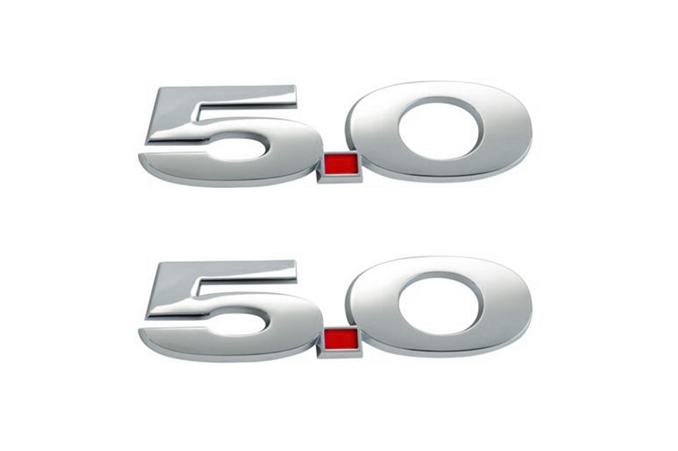 Ford Performance Mustang Chrome 5.0 Fender Emblem Set (2011-2014)