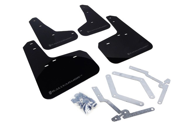 Rally Armor Mud Flap Set Black w/ Grey Logo Set Focus (ST 2012-2018 & RS 2016-2018)