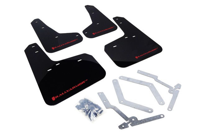 Rally Armor Mud Flap Set Black w/ Red Logo Set Focus (ST 2012-2018 & RS 2016-2018)