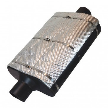 Heatshield Mustang Pair Muffler and Catalytic Converter (Universal)