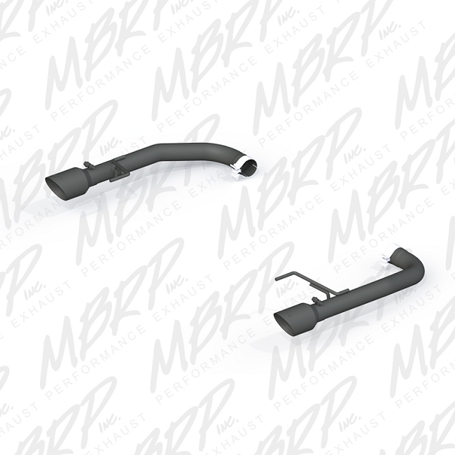 MBRP Mustang GT Black Series Axle-Back Exhaust System (2015-2017)
