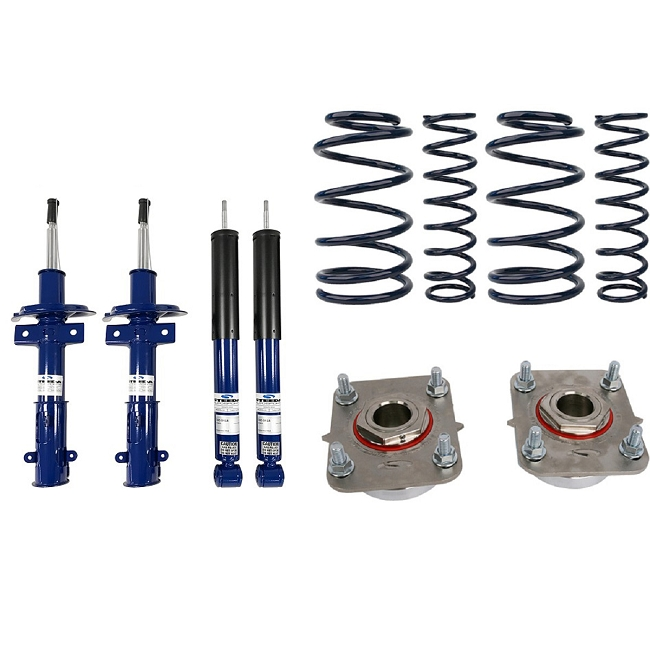 Steeda Pro-Action Mustang Sport Lowering Spring/Shock/Strut Mount Package (2011-2014)