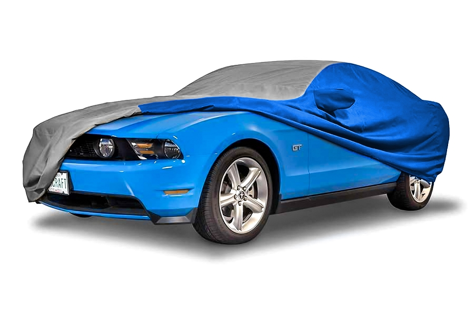 Covercraft Mustang GT/Cobra WeatherShield HP Exterior Gray/Blue Car Cover (1987-1993)