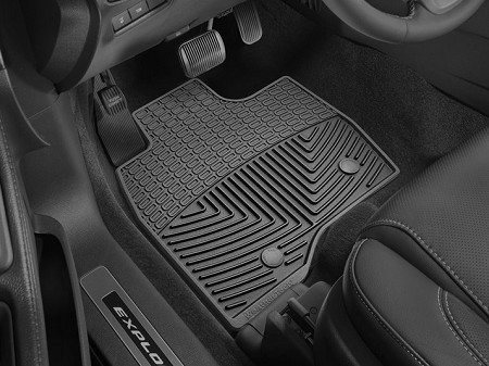 WeatherTech Ford Explorer Front Rubber Mats - Grey (2017-2019)