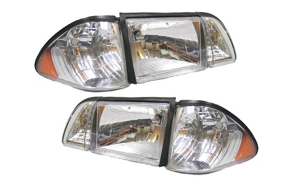 Fox Body Mustang Ultra Clear Headlights (87-93 All)
