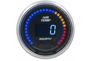 "Autometer 2-1/16"" air Temp, dual Channel, 0-300F, Cobalt"