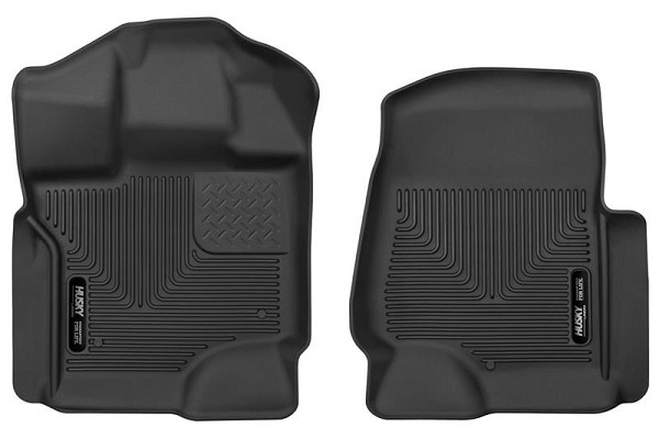 Husky Liners F-250/F-350 X-Act Contour Black Front Floor Liners (2017-2020)