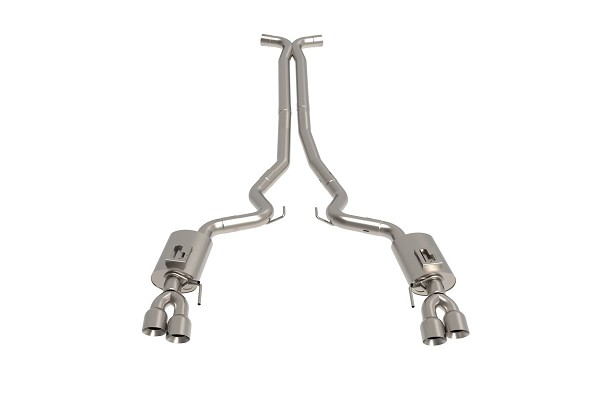 Kooks Mustang GT Cat-Back Exhaust w/ X-Pipe - Polished Tips (2018-2020)