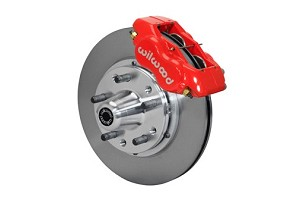 Wilwood Forged Dynalite Pro Series Front Brake Kit-Red Powder Coat Caliper-Plain Face Rotor (87-93)