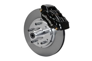 Wilwood Fox Body Forged Dynalite Pro Series Front Brake Kit - Black Powder Coat Caliper 11 inch Plain Face Rotor (1987-1993)