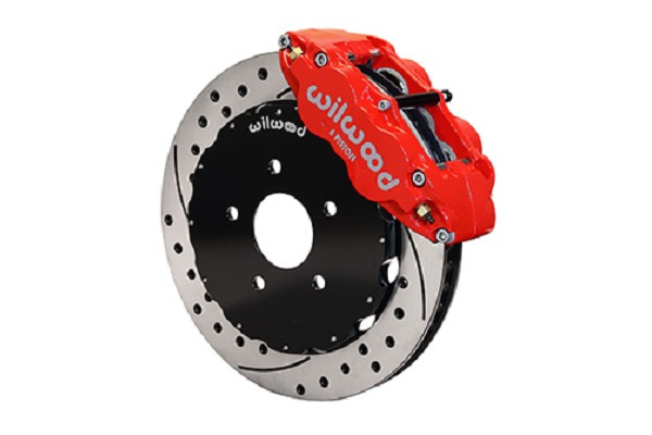 Wilwood SN95 Forged Narrow Superlite 6R Big Brake Front Brake Kit - Red Caliper-Drilled Rotor (94-04)