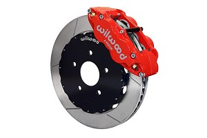 Wilwood SN95 Forged Narrow Superlite 6R Big Brake Front Brake Kit -Red Caliper Slotted Rotor (94-04)