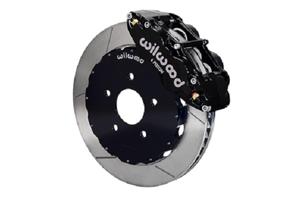 Wilwood Mustang Forged Narrow Superlite 6R Front Big Brake Kit - Black Caliper - Slotted Rotor (1994-2004)