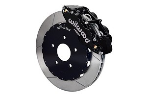 Wilwood SN95 Forged Narrow Superlite 6R Big Brake Front Brake Kit (Hat) - Black Caliper-GT Slotted Rotor (94-04)