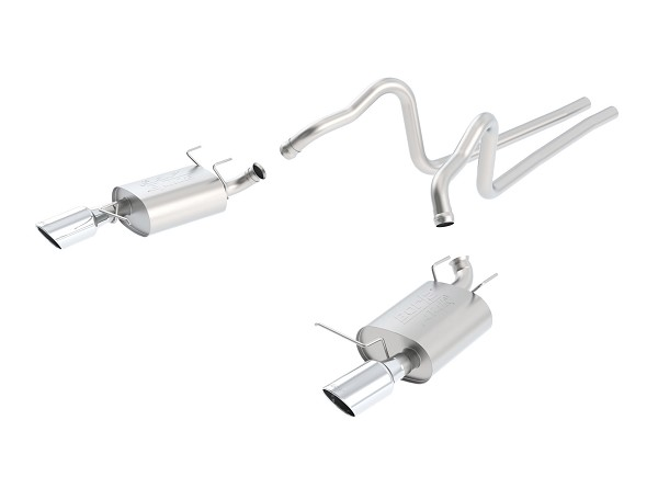 "Borla 3.7L Mustang V6 2.25"" ATAK Cat-Back Exhaust w/ 4.5"" Polished Tips (2011-2014)"