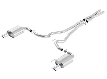 "Borla Mustang GT Single Split 2.5"" S-Type Cat-Back Exhaust w/ X-Pipe & Chrome Tips (2015-2017)"