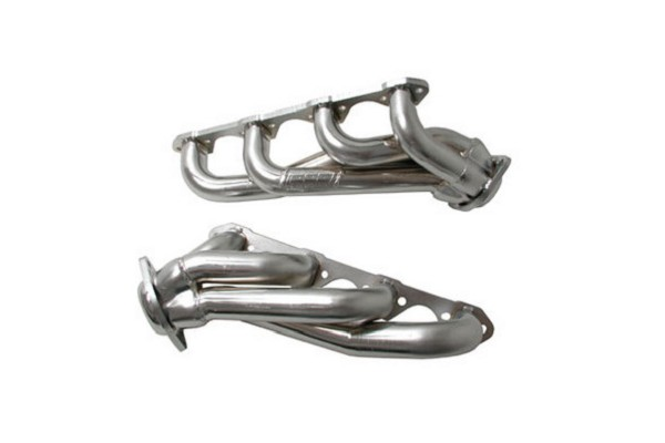 BBK Mustang 1-5/8 in. Unequal Length Shorty Headers Chrome (1986-1993 5.0L)