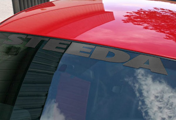 Steeda Windshield Decal - Black