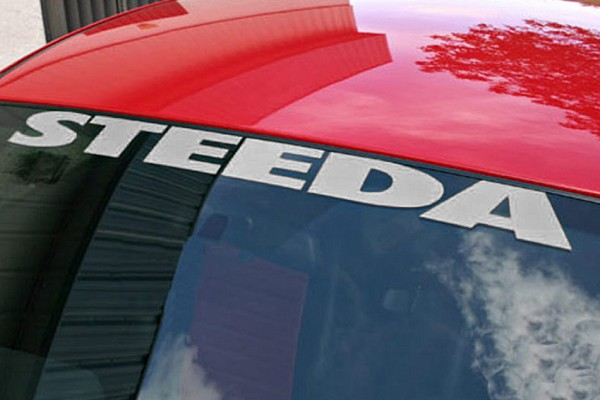 Steeda Windshield Decal - Silver