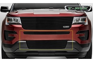 T-Rex Ford Explorer - Billet - 2 Piece Overlay - Bumper Grille - Black Powder Coated Finish (2016-2017)