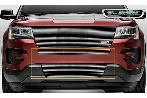 T-Rex Ford Explorer - Billet - 2 Piece Overlay - Bumper Grille - Polished Finish (2016-2017)