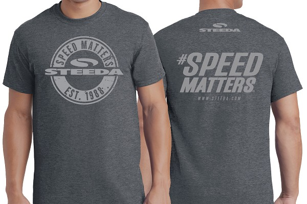 Steeda Est. 1988 Speed Matters Dark Heather Grey T-Shirt