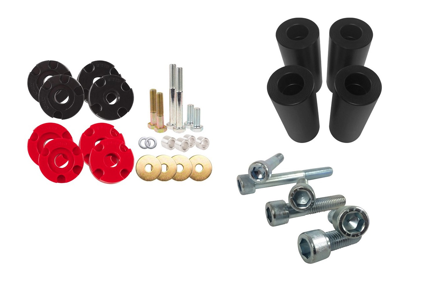 Steeda S550 Mustang Adjustable Urethane Differential Bushing Insert System,  Bolt Upgrade & Subframe Alignment Combo - (2015-2019 GT)