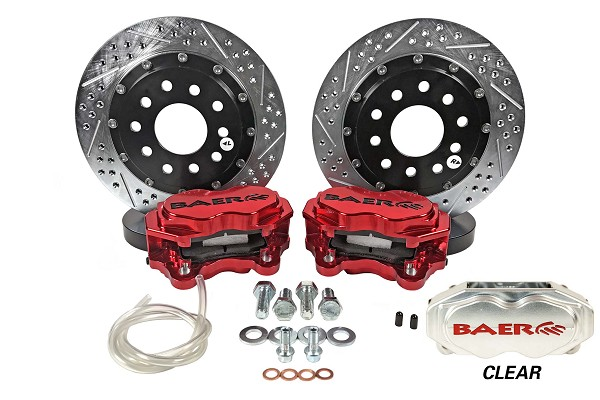 "Baer SS4+ Deep Stage Drag Race S550 Mustang GT/V6/EcoBoost 11"" Front Brake System w/ Clear Caliper (2015-2019)"