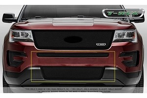 T-Rex Ford Explorer - Upper Class - 2 Piece Overlay - Bumper Grille - Black  (2016-2017)