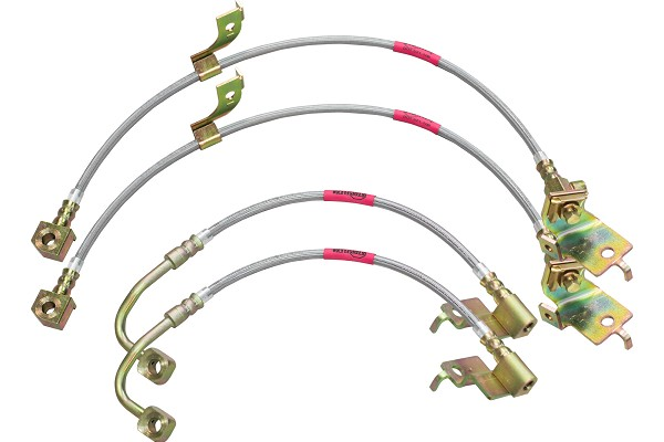 Steeda S197 Mustang Stainless Braided Hose Front & Rear Brake Lines (05-14)