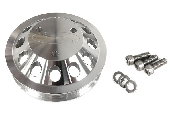 Steeda Mustang GT Billet 3 Bolt Water Pump Pulley 5.0L/5.2L GT350 (2011-2021)