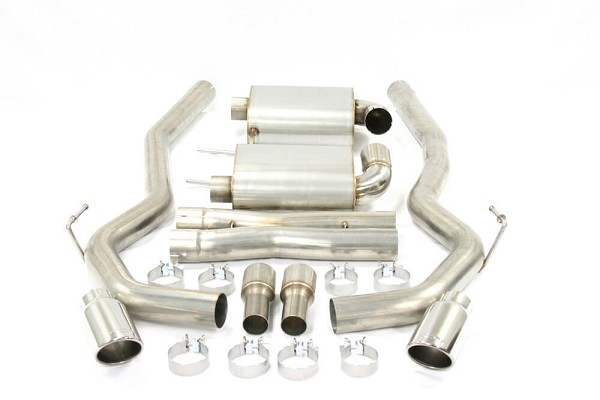 "Steeda S550 Mustang 3"" Cat-Back Exhaust 5.0L Coyote- 304 Stainless Steel  (2015-2017  GT)"