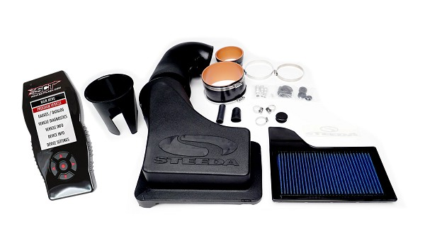 Steeda S550 Mustang ProFlow Closed Cold Air Intake 5.0L Power Pack (18-19 GT) w/ SCT X4