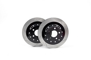 Steeda S550 Performance Pack Mustang GT Rear Two-Piece 330mm x 25mm Floating Rotors (2015-2020)