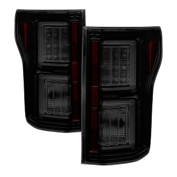 Spyder F150 2015-2017 Light Bar LED Tail Lights - Black Smoke (not compatible with rear blind spot sensor models)