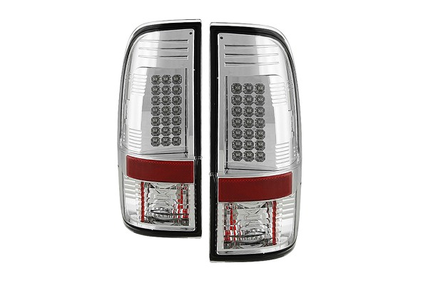 Spyder Super Duty F-250/ F-350 08-16 LED Tail Lights - Chrome